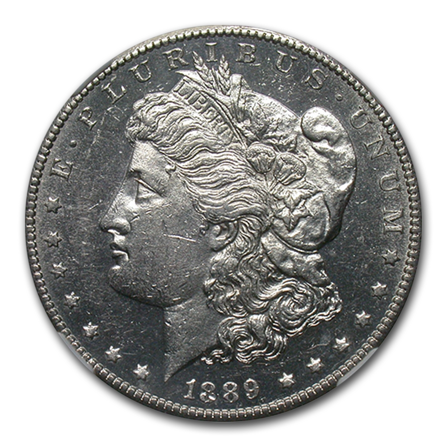 1889-CC Morgan Dollar MS-60 NGC (PL)